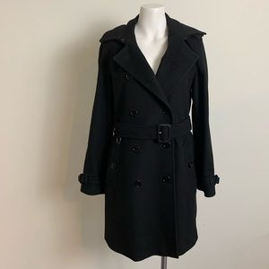 Burberry wool cashmere kensington trench coat